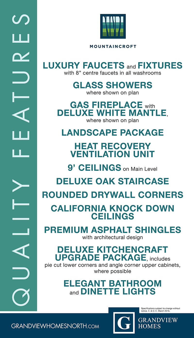 Mountaincroft Luxury Features